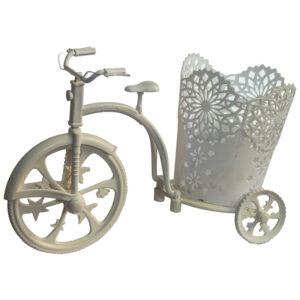 """Кашпо  """"Велосипед с ажурной корзинкой"""" 18"""