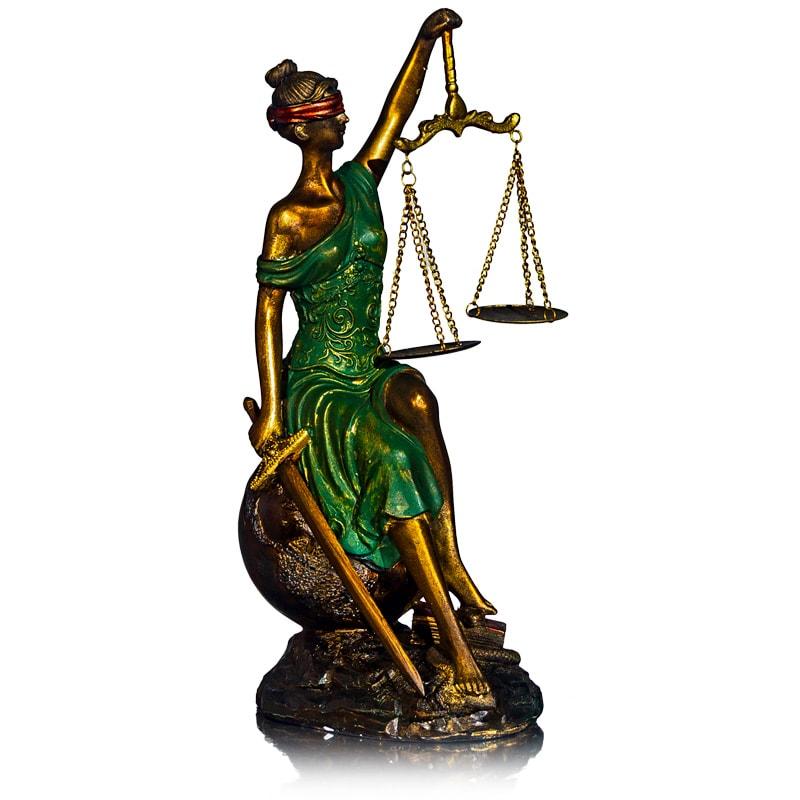 "Статуэтка ""Фемида-богиня правосудия на шаре"""