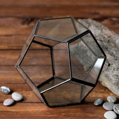 Флорариум, 18*20 см, каркас черного цвета