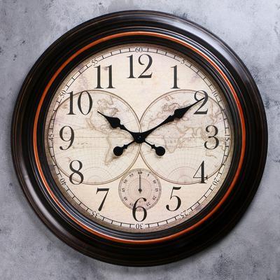 "Часы настенные ""Старинная карта"""