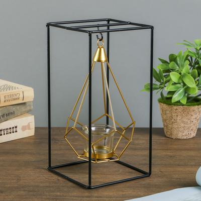 """Подсвечник на 1 свечу """"Пирамида в прямоугольнике"""""""